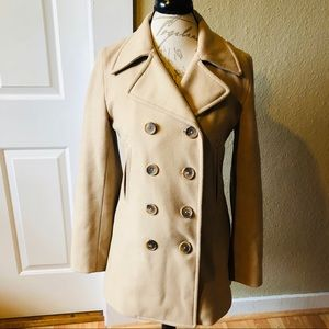 J Crew Double Breasted Wool Pea Coat